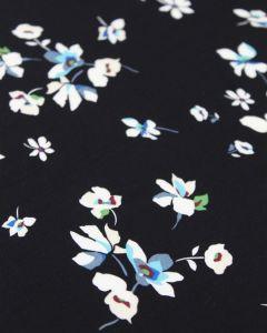 Viscose Fabric - Summer Sprig Black