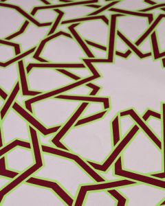 Ex Designer - Cotton Poplin Fabric - Geo Star