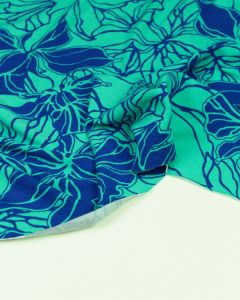 Viscose Jersey Fabric - Honolulu Blue