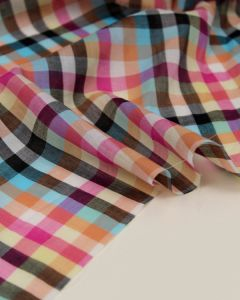 Cotton Lawn Fabric - Cosmo Check