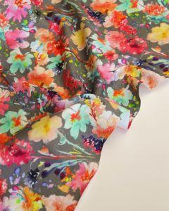 Cotton Jersey Fabric - Field Bouquet Pebble