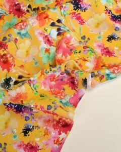 Cotton Jersey Fabric - Field Bouquet Sunshine