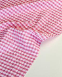 Cotton Seersucker Fabric - Candy Gingham