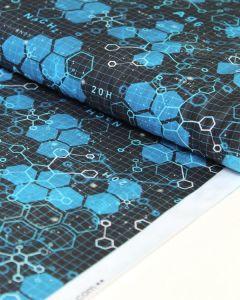 Patchwork Cotton Fabric - Science Fair - Molecular Formula