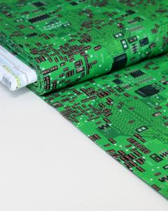 Patchwork Cotton Fabric - Science Fair - Circuit Board