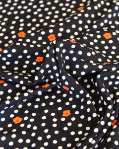 Viscose Jersey Fabric - Daisy Dot Navy