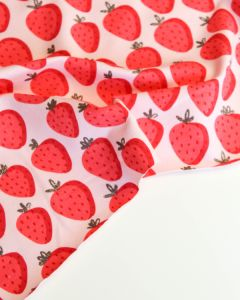 Cotton French Terry Fabric - Strawberry Fizz