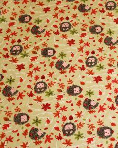 Cotton Jersey Fabric - Henry Hedgehog