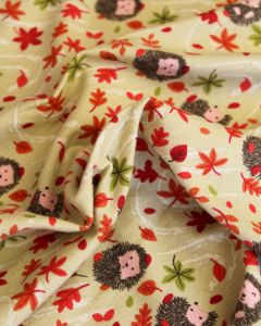 Cotton Jersey Fabric - Henry Hedgehog