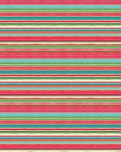Patchwork Cotton Fabric - Dotty Stripe