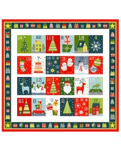 Christmas Cotton Fabric - Joy Advent Panel