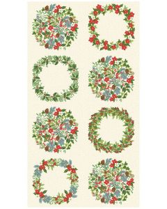 Christmas Cotton Fabric - Yuletide Panel