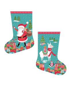 Patchwork Cotton Fabric - Let It Snow Stocking Panel