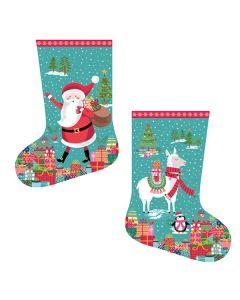 Christmas Stocking Panel - Let It Snow