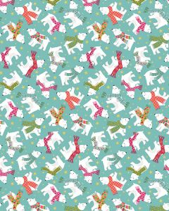 Patchwork Cotton Fabric - Cosy Bears