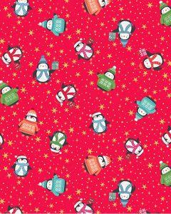Patchwork Cotton Fabric - Cosy Penguins