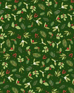 Patchwork Cotton Fabric - Yuletide Sprig