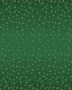 Christmas Patchwork Fabric - Ombre Snowflake Green