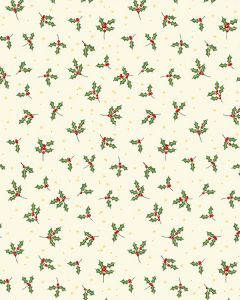 Christmas Patchwork Fabric - Merry Holly