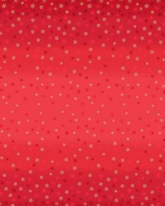 Patchwork Cotton Fabric - Ombre Snowflake Red
