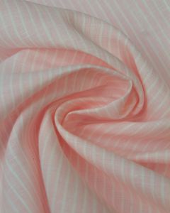 Pure Linen Fabric - Mallow Stripe