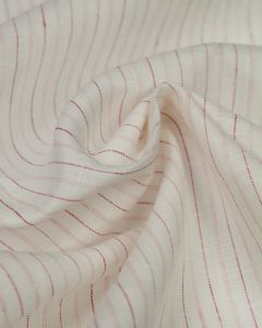 Pure Linen Fabric - Quartz Stripe