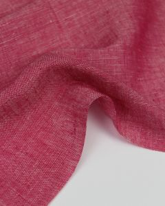 Yarn Dyed Linen Fabric - Rhubarb