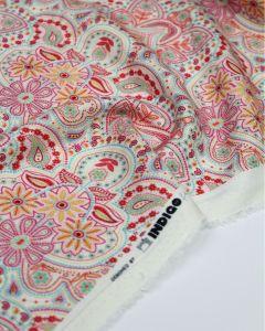 Viscose Twill Fabric - Milkshake Paisley