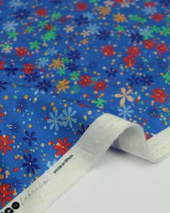 Viscose Twill Fabric - Lennon Floral Blue