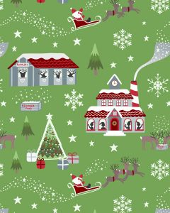 Patchwork Cotton Fabric - Lapland Glow Xmas Morning