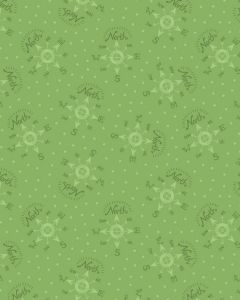 Christmas Patchwork Fabric - North Pole Compass Green