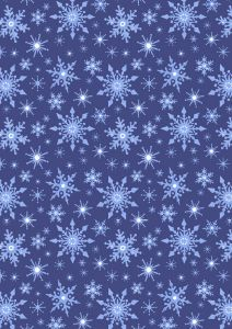 Christmas Patchwork Fabric - Keep Believing - Frosty Snowflakes Blue