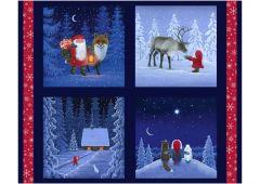 Christmas Cushion Panel - Keep Believing - Tomten & Friends