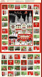 Christmas Advent Calendar Panel - London Christmas