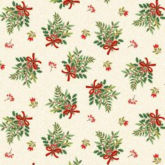 Christmas Patchwork Fabric - Classic Foliage - Christmas Bouquet