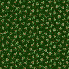 Christmas Patchwork Fabric - Classic Foliage - Holly Spray Green