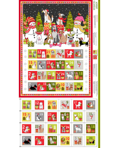 Christmas Advent Calendar Panel - Yappy Christmas!