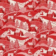 Christmas Patchwork Fabric - Scandi Christmas - Scenic Red