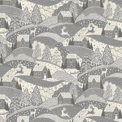 Christmas Patchwork Fabric - Scandi Christmas - Scenic Silver