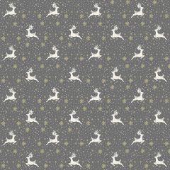 Christmas Patchwork Fabric - Scandi Christmas - Reindeer Silver
