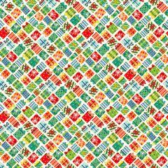 Christmas Patchwork Fabric - Santa Express - Presents Ivory