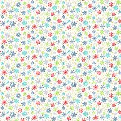 Christmas Patchwork Fabric - Santa Express - Snowflakes