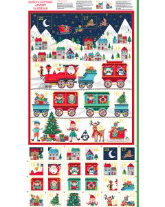 Christmas Advent Calendar Panel - Santa Express
