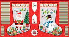 Christmas Stocking Panel - Santa Express