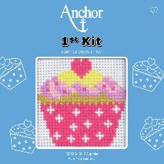 Anchor 1st Kit - Cross Stitch - Cupcake