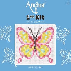 Anchor 1st Kit - Cross Stitch - Butterfly