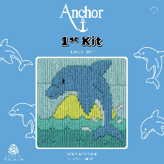 Anchor 1st Kit Long Stitch Dolphin in packet
