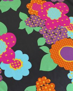 Silk Satin Fabric - Sixties Floral