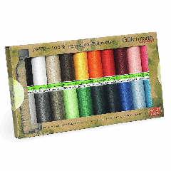 Gutermann rPET Recycled Thread Set - 20 x 100m Assorted