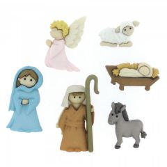 Christmas Buttons - Nativity
